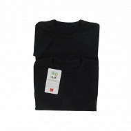 Tee shirt manches courtes uni lot de 2 Influx 02/ NOIR/NOIR 6/8 ANS