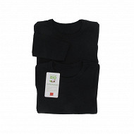 Tee shirt uni manches longues lot de 2 Influx 02/ NOIR/NOIR 10 ANS