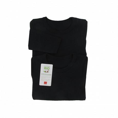 Tee shirt uni manches longues lot de 2 Influx 02/ NOIR/NOIR 6/8 ANS