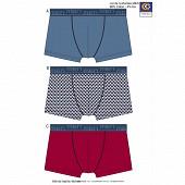 Lot de 3 boxers LOT BLEU/TRIANGLE/ROUGE T4