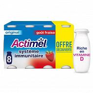 Actimel original goût fraise 8x100g offre découverte