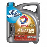 Total activa huile moteur voiture 9000 essence 5w40 5l offre spéciale