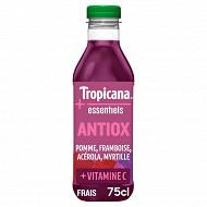 Tropicana essentiels antiox pomme  framboise acérola myrtille pet 75cl