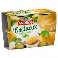Andros onctueux spécialité de poires et de pommes 4x97g