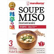 Marukome soupe miso tofu 57g