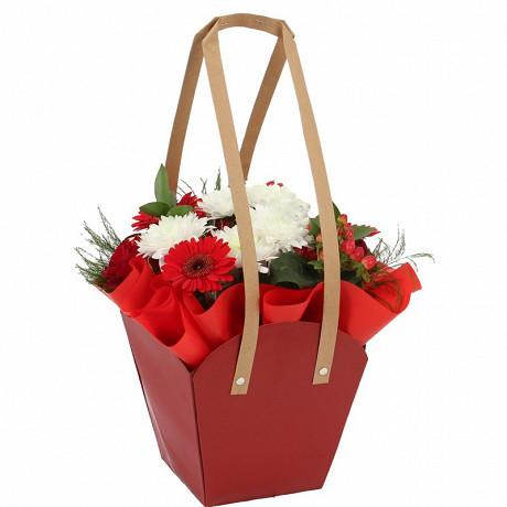 Bouquet bulle dans sac kraft 16 tiges