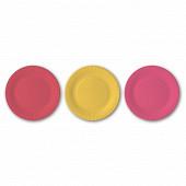 Cora assiettes x75 rouge/jaune/fuschia 15cm