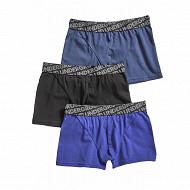 Boxers garçon lot de 3 influx NOIR/ENCRE/INDIGO 14ANS