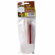 10 étiquettes blanches à planter