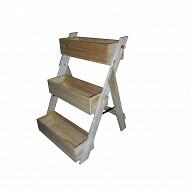 Jardinière bois échelle 3 niveaux en pin traitée