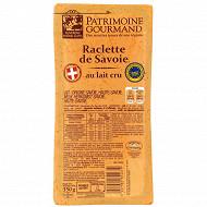 Patrimoine Gourmand raclette de Savoie igp au lait cru 30%mg 350g