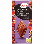Cora chocolat au lait amandes figues miel 180 g