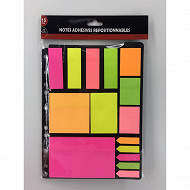 Set de notes adhesives repositionnables