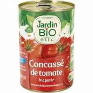 Jardin bio Etic concassé de tomate morceaux bio 400g