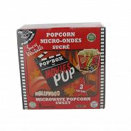 Pop'box popcorn micro ondes sucre 300g
