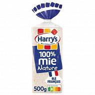 Harrys 100% mie pain de mie sans croûte nature 500g
