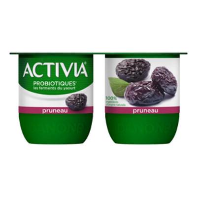 Danone Activia bifidus fruits pruneaux 4x125g