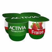 Activia bifidus fruits fraises 4x125g