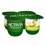 Activia bifidus fruit poire 4x125g
