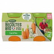Blédina Bio Carottes de Bretagne 130g x2
