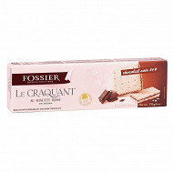 Biscuits Fossier craquant au biscuit rose chocolat noir 170gr