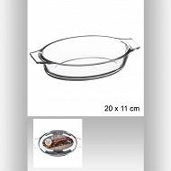 Mini plat oval en verre