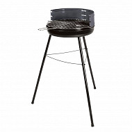 Verciel barbecue charbon de bois miami 57.5x54xh85.5 cm grille diam 38cm