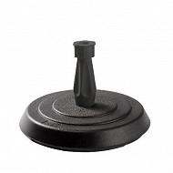 Eda pied de parasol rond béton gris 14 kg pour tige diamètre 18 à 33 mm