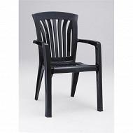 Nardi fauteuil diana anthracite empilable haut dossier L60XP66XH89 cm