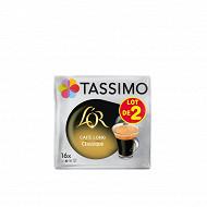 Tassimo L'or café dosettes café long classique 2x16 208g
