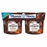 Mamie Nova liégois gourmand chocolat coeur caramel 4x120g