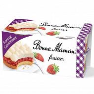 Bonne Maman fraisier 4x100g format gourmand
