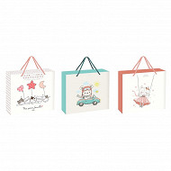 Boite cadeau valisette bebe taille U 3 variantes assorties