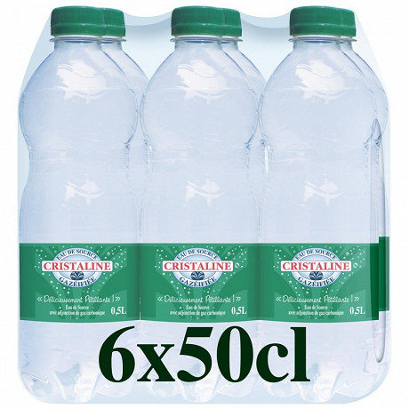Cristaline eau gazéifiée 6x0.50l
