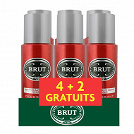 Brut déodorant spray homme attraction totale 6x200ml (4+2 gratuits)