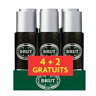 Brut déodorant spray homme musk 6x200ml (dont 2 gratuits)