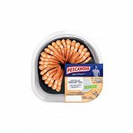 Queues de crevettes décortiquées cuites réfrigérées + sauce Tartare 130g