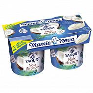 Mamie Nova yaourt gourmand noix de coco 2x150g l'offre de mamie