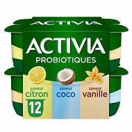 Activia bifidus saveur panaché sans arôme artificiel 12x125g