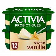 Activia bifidus saveur vanille sans arôme artificiel 12x125g