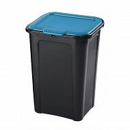 Poubelle de tri slectif 45 litres cv bleu
