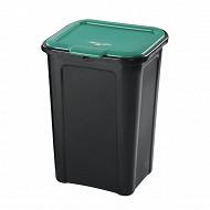 Poubelle de tri selectif 45 litres cv vert