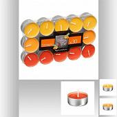 Lot de 30 bougies chauffe-plat parfum fruit tropical