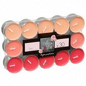 Lot de 30 bougies chauffe plat parfum rose