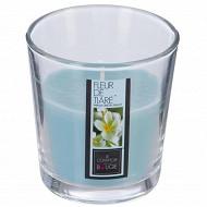 Bougie verre parfum fleur de tiaré 90g