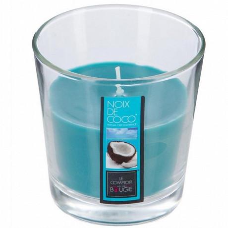 Bougie verre parfum coco 90g