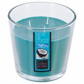 Bougie verre parfum coco 500g