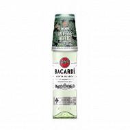 Bacardi carta blanca 70cl - 37.5° + verre