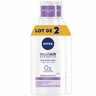 Nivea visage démaquillant micellaire 0% peau sensible lot x2 400ml