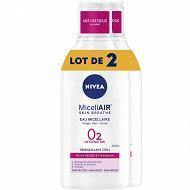 Nivea visage démaquillant micellaire 0% peaux sèches et sensibles lot x2 400 ml